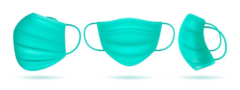 逼真的医用口罩矢量素材(AI/EPS/免扣PNG)