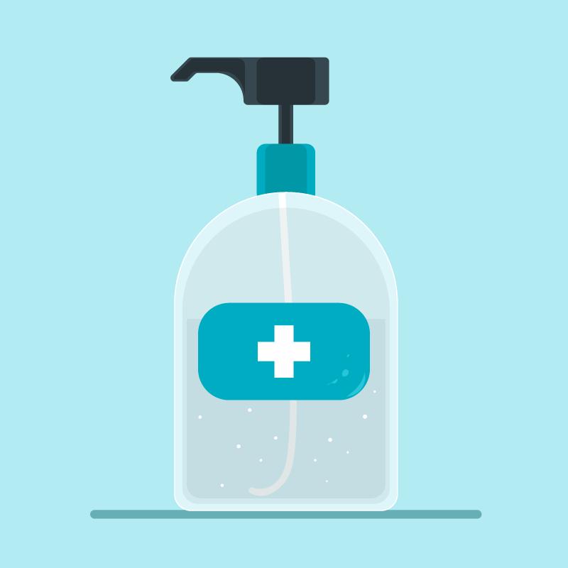 扁平风格免洗洗手液矢量素材(AI/EPS/免扣PNG)