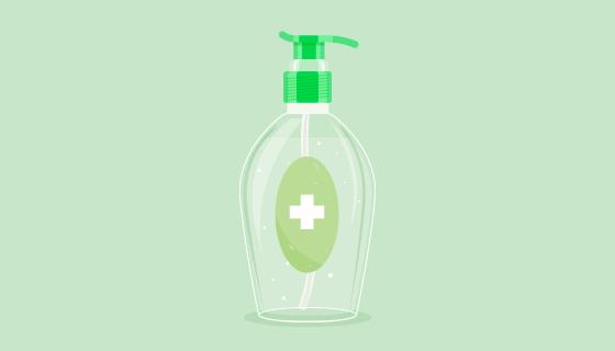 扁平风格免洗洗手液矢量素材(AI/EPS/PNG)