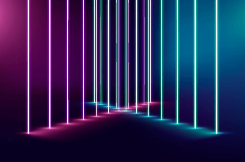 多彩霓虹灯背景矢量素材(AI/EPS)