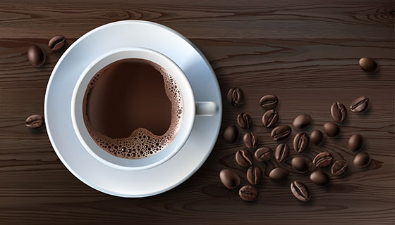 咖啡和咖啡豆矢量素材(EPS)