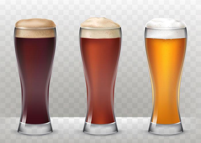 啤酒和啤酒杯矢量素材(EPS)