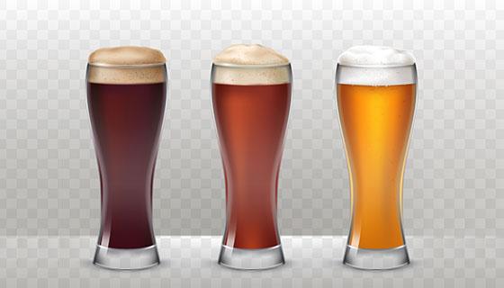 啤酒和啤酒杯矢量素材