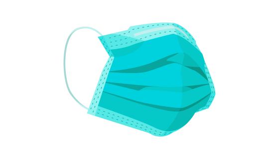 扁平风格医用口罩矢量素材(AI/EPS/PNG)