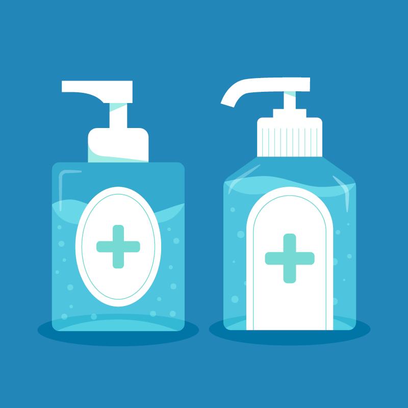 扁平风格洗手液矢量素材(AI/EPS/免扣PNG)