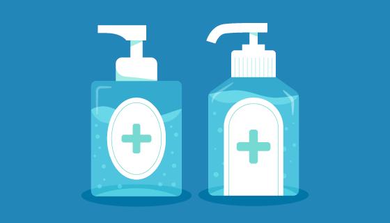 扁平风格洗手液矢量素材(AI/EPS/PNG)