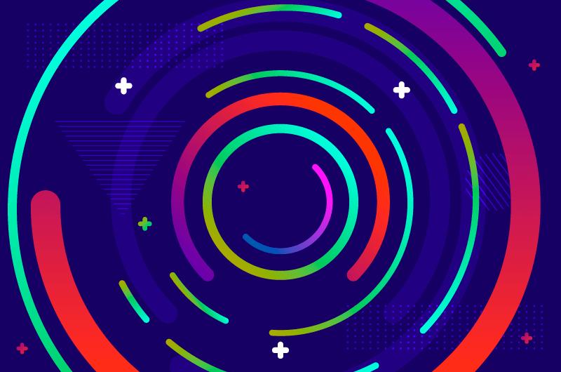 多彩抽象圆圈背景矢量素材(AI/EPS)