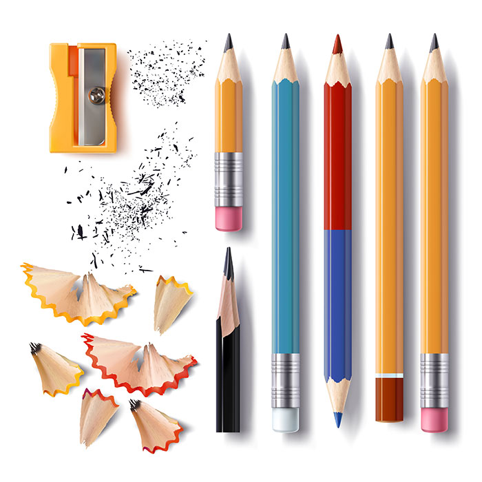 铅笔卷笔刀矢量素材(EPS)