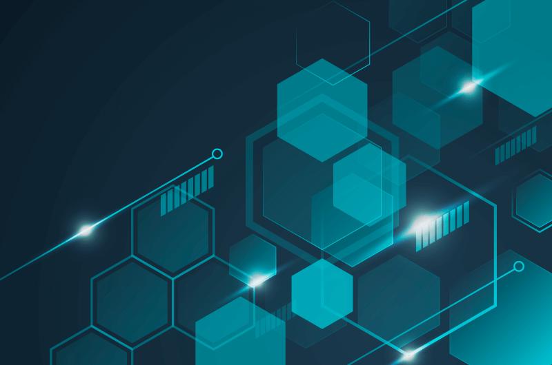 六边形未来感科技背景矢量素材(AI/EPS)