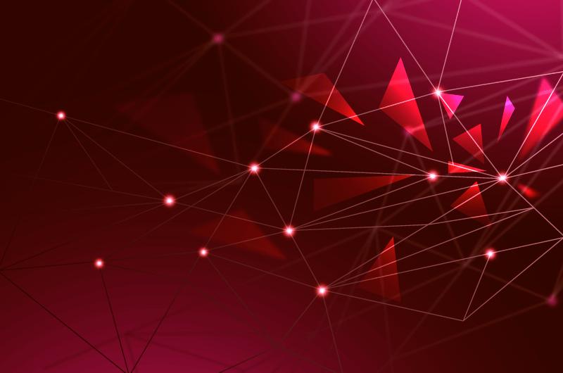 点线三角形科技背景矢量素材(AI/EPS)