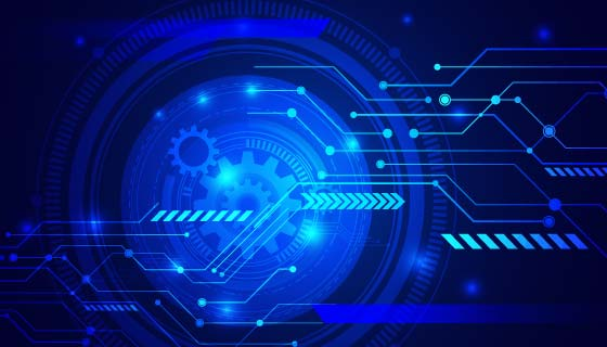 蓝色科技背景矢量素材(AI/EPS)