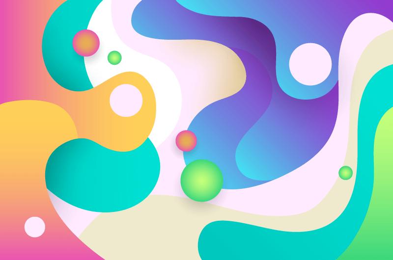 抽象多彩流体背景矢量素材(AI/EPS)