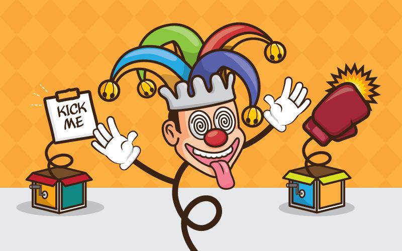 滑稽的小丑愚人节矢量素材(EPS)