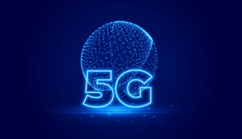 粒子地球5G网络概念背景矢量素材(EPS)