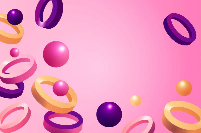 创意3D几何物体背景矢量素材(AI)