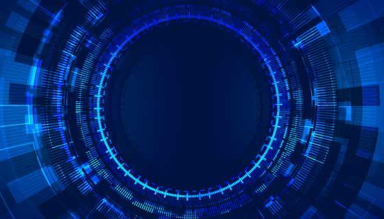 蓝色科技背景矢量素材(EPS)