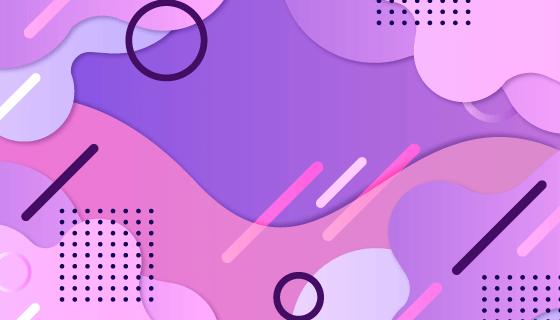 紫色抽象背景矢量素材(AI/EPS)