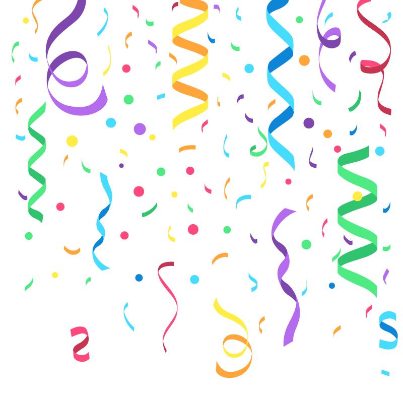 扁平风格五彩纸屑矢量素材(AI/EPS)