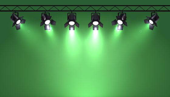 逼真的聚光灯和舞台矢量素材(EPS)
