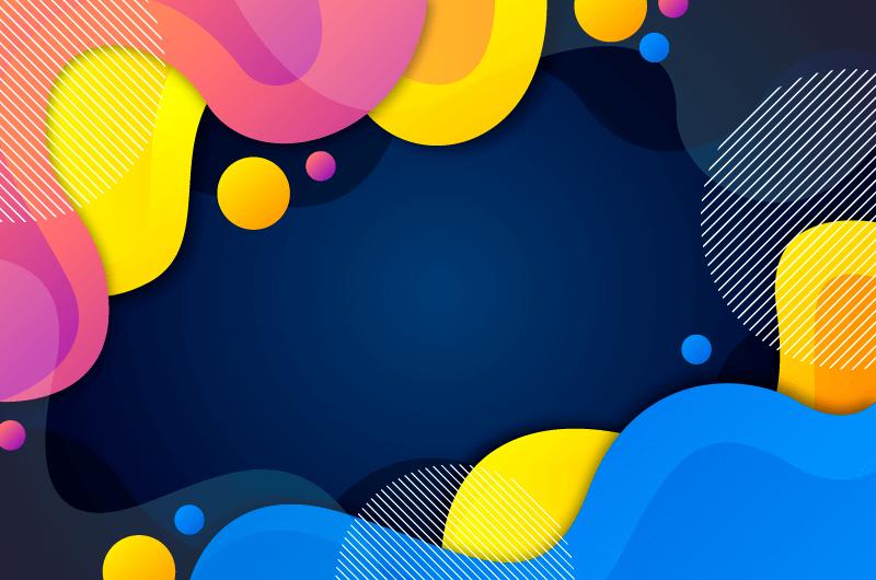 多彩抽象背景矢量素材(AI/EPS)