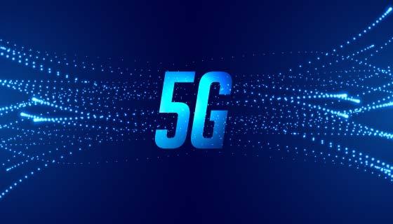 蓝色5G网络科技背景矢量素材(EPS)
