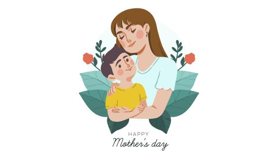 妈妈抱着孩子母亲节矢量素材(AI/EPS/PNG)