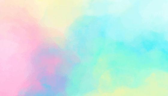 梦幻水彩背景矢量素材(AI/EPS)