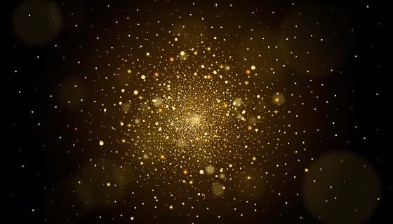 金色粒子背景矢量素材(AI/EPS)