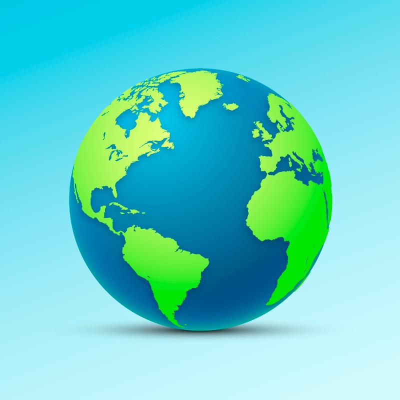 清晰的地球矢量素材(AI/EPS/免扣PNG)