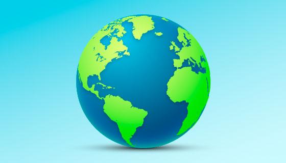 清晰的地球矢量素材(AI/EPS/PNG)