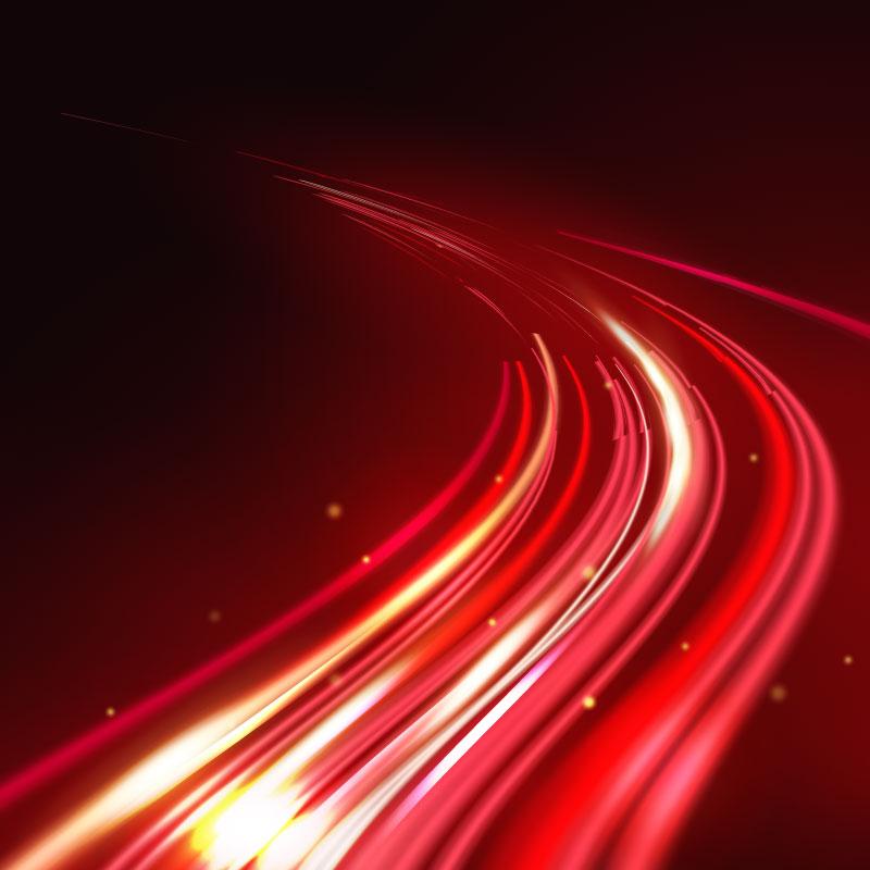 高速光线轨迹背景矢量素材(AI/EPS)