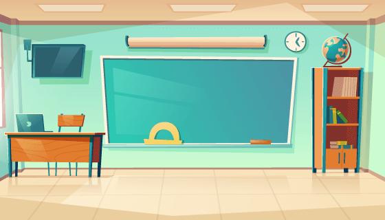 空旷的教室矢量素材(EPS)