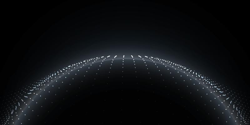 黑色的粒子地球科技背景矢量素材(EPS)
