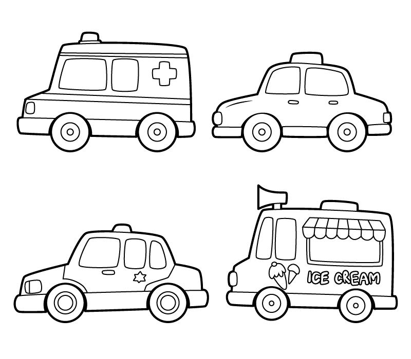 扣扣邮箱登录_手绘儿童黑白玩具车矢量素材(AI/EPS/PNG)_dowebok