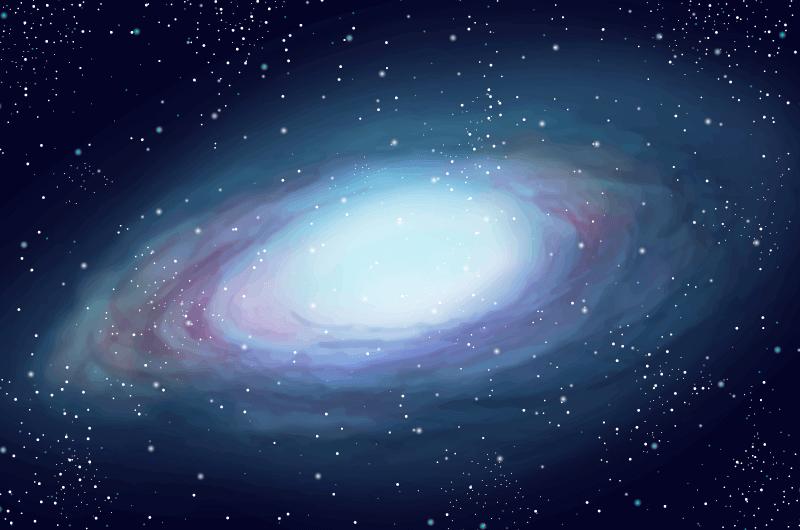 水彩风格银河系矢量素材(AI/EPS)