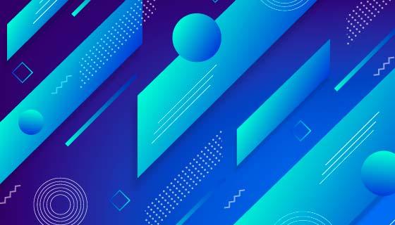 蓝色抽象背景矢量素材(AI/EPS)