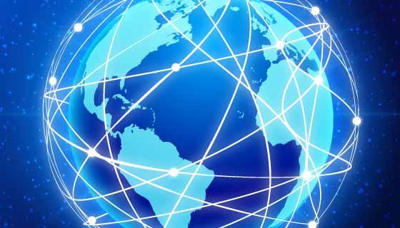 全球互联科技背景矢量素材(EPS)