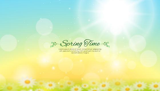 模糊的春天背景矢量素材(EPS/AI)