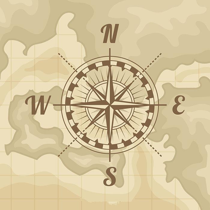 地图指南针矢量素材(EPS/AI)