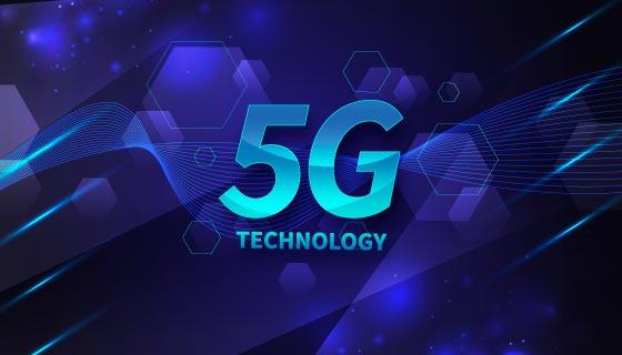 抽象概念设计5G背景矢量素材(AI/EPS)