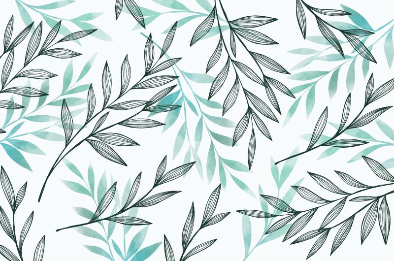 灰蓝色树叶自然背景矢量素材(AI/EPS/免扣PNG)