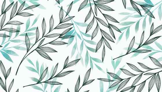 灰蓝色树叶自然背景矢量素材(AI/EPS/PNG)
