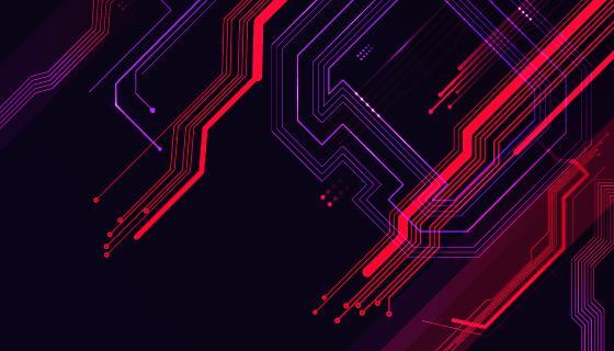 线路板纹理设计科技背景矢量素材(AI/EPS)