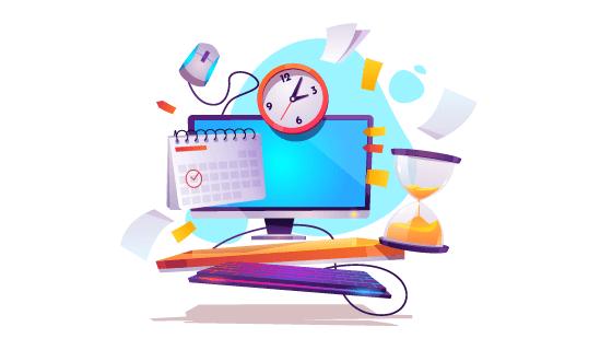 时间概念设计矢量素材(EPS)