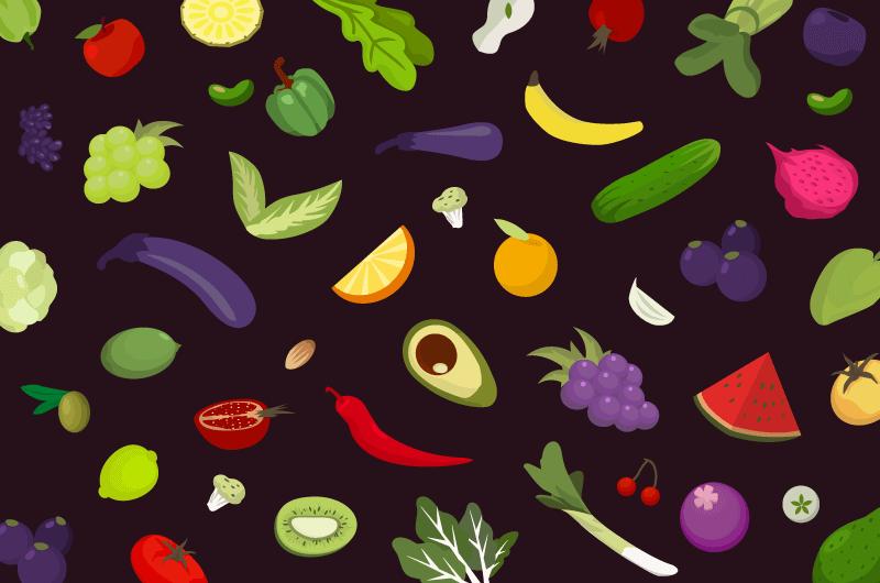 水果蔬菜背景矢量素材(AI/EPS/免扣PNG)
