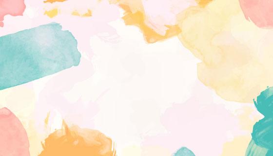 多彩水彩背景矢量素材(EPS)