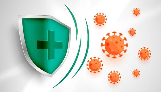 冠状病毒防护概念设计矢量素材(EPS)