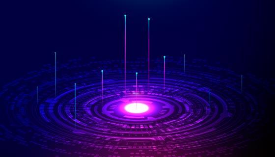 紫色科技背景矢量素材(AI/EPS)