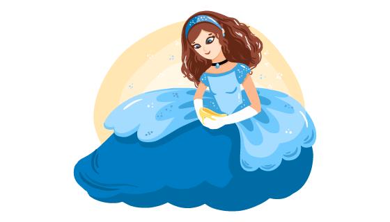 漂亮的公主矢量素材(AI/EPS/PNG)