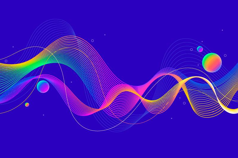 多彩波浪背景矢量素材(AI/EPS)